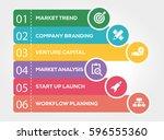 start up and development... | Shutterstock .eps vector #596555360