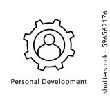 personal development vector... | Shutterstock .eps vector #596562176