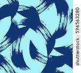 brush strokes abstract seamless ...   Shutterstock .eps vector #596563280