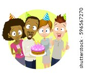 illustration of multiethnic...   Shutterstock .eps vector #596567270