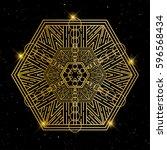 oriental pattern  vector... | Shutterstock .eps vector #596568434
