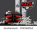 racing car logo | Shutterstock .eps vector #596568563