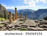 Ancient Ruins Of Delphi In...