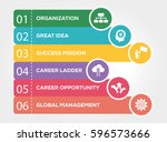 business management infographic ... | Shutterstock .eps vector #596573666