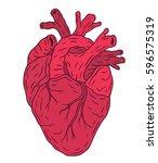 vector heart illustration....   Shutterstock .eps vector #596575319