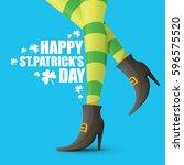vector creative saint patrick... | Shutterstock .eps vector #596575520