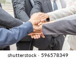 success teamwork concept... | Shutterstock . vector #596578349