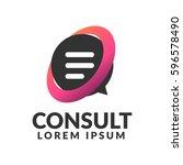 consulting agency logo.... | Shutterstock .eps vector #596578490
