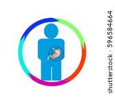 vector illustration. the emblem ... | Shutterstock .eps vector #596584664