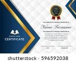 modern premium company... | Shutterstock .eps vector #596592038