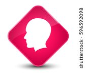 head male face icon isolated on ... | Shutterstock . vector #596592098