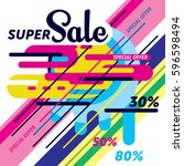 sale banner template design....   Shutterstock .eps vector #596598494