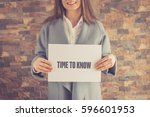 time to know concept | Shutterstock . vector #596601953
