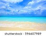 Beautiful White Sand Beach And...