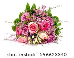 Pink Wedding Bouquet Isolated...