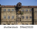 the building. old brick factory | Shutterstock . vector #596625320