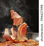bacon  | Shutterstock . vector #596627498