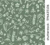 seamless raster pattern ... | Shutterstock . vector #596635106