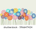 colorful flowers background | Shutterstock .eps vector #596647424