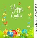 positive easter background | Shutterstock .eps vector #596649194