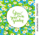 blue garden seamless pattern | Shutterstock .eps vector #596649590