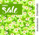 floral big sale | Shutterstock .eps vector #596649680