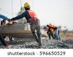construction worker in... | Shutterstock . vector #596650529