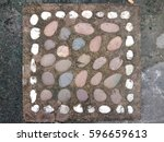 old stone brick for decorate in ... | Shutterstock . vector #596659613