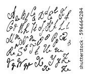 vector alphabet. unique brushed ...   Shutterstock .eps vector #596664284