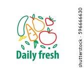 organic food emblem and badge | Shutterstock .eps vector #596666630