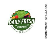 organic food emblem and badge | Shutterstock .eps vector #596666720