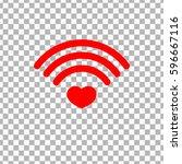 heart wifi icon  wi fi symbol... | Shutterstock .eps vector #596667116
