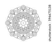 hand drawn mandalas. decorative ... | Shutterstock .eps vector #596675138