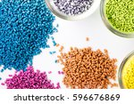 plastic granules close up for... | Shutterstock . vector #596676869