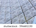 the wall of a modern building.... | Shutterstock . vector #596681150
