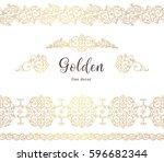 vector vintage seamless borders ... | Shutterstock .eps vector #596682344