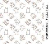 top clothes background seamless ... | Shutterstock .eps vector #596684168