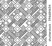 seamless vector pattern. black... | Shutterstock .eps vector #596684654