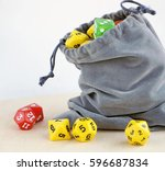 Grey Bag With Dices For Board...