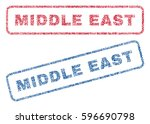 middle east text textile seal... | Shutterstock .eps vector #596690798