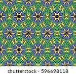 ornamental flower design.... | Shutterstock .eps vector #596698118
