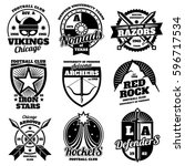 school emblems  college... | Shutterstock .eps vector #596717534