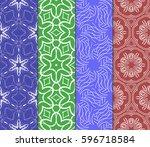 seamless set floral pattern....   Shutterstock .eps vector #596718584