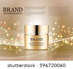 cosmetic ads template ... | Shutterstock .eps vector #596720060