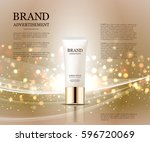 cosmetic ads template ... | Shutterstock .eps vector #596720069