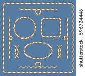 nautical ropes vector frames set   Shutterstock .eps vector #596724446