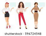 casual fashion woman... | Shutterstock .eps vector #596724548