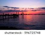 clear water  fl sunsets near... | Shutterstock . vector #596725748