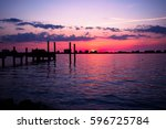 clear water  fl sunsets near... | Shutterstock . vector #596725784