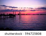 clear water  fl sunsets near... | Shutterstock . vector #596725808